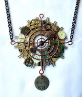 Large steampunk necklace by kathystemke