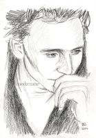 Sketch - Tom Hiddleston by MeikeZane
