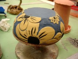 Black-eyed Susan bowl WIP by Stormphyre