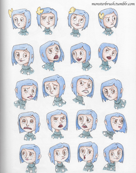 Coraline Doodles by MonsterBrush
