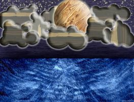 Starry woody night over the sea - The wood serie by ki0r0nin