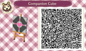 Companion Cube pattern by NeonRedWings