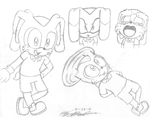 GB: Scotch the Rabbit Sketchs by Elizabeth-Rose123