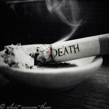 Death By Cigarette. by silent-scream-throe