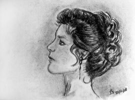 Stephanie Zimbalist Charcoal by StandsWithAPencil