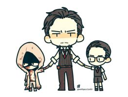 Sebastian with child Ruvik and Joseph by potatopencil