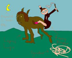Harry riding Leprus Lupin. by Hero-Potter