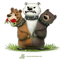 Daily Paint #1266. Cerbearus by Cryptid-Creations