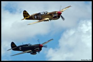 Planes of Fame P-40s by AirshowDave