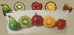 fruit charms by Kriztal