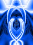 Blue abstract art2 by NBC-117