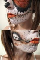 Sugarskull makeup by melonmint2