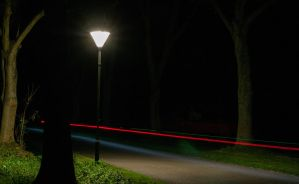 Bike Path at Night by martineriksen