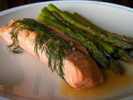 Dilled Salmon Trout by Tlemetry