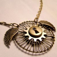 Flying Time Machine Pendant by SteamSociety