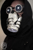 The leviathan LED cyberpunk respirator and goggles by TwoHornsUnited