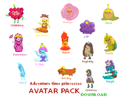 AT Princesses - FREE ANIMATED AVATAR PACK by Klizzy