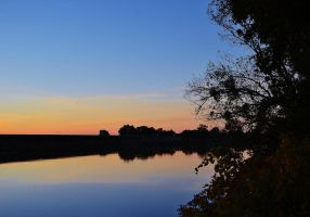 Calm River Sunset by Marilyn958