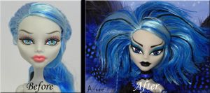 Azure- Before and After close up by KrisKreations