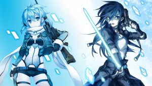 Sinon and Kirito - Gun Gale Online by Darc1n