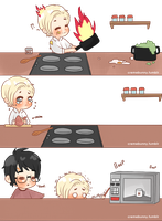 Chibi Drarry - Who Cooks? by Cremebunny