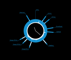 Conky System Clock by Deleh