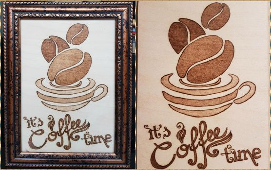 Woodburning - It's Coffee Time by Stepher17