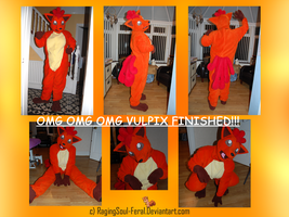 Vulpix Fursuit COMPLETE by SpizFeral