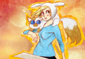 Cake and Fionna by JMFenner91
