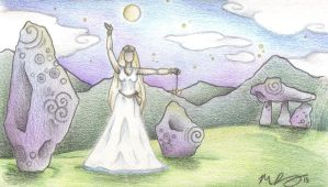 The White Priestess by Spiralpathdesigns