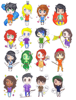 Percy Jackson Chibis by Ara-bell