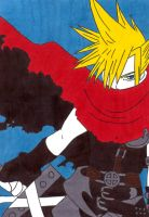 cloud strife by frecklesmile