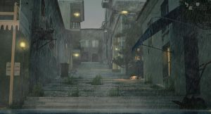 Old street 2. rainy by pitposum