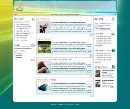 HR Intranet Design by blackiron