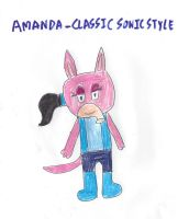 Amanda - Classic Sonic Style by dth1971