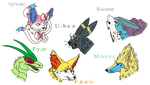 My XY Pokemon Team by draizor007