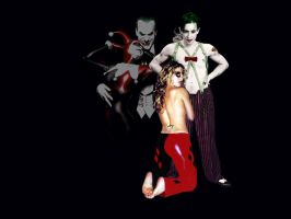 Alan Cumming n Anastacia Newkirk as Joker n Harley by LongWalk9x7
