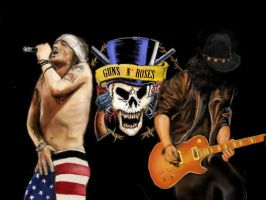 Guns N Roses - Speed Painting by wakdor