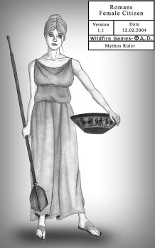 Romans Female Citizen by MythosRuler