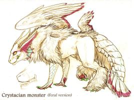 Crystacian monster feral design by Anarchpeace