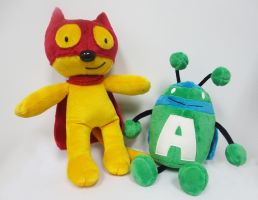 Action Cat and Adventure Bug by NRWalker