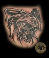 skull joker tat by 2Face-Tattoo