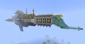 Minecraft - Lunar-Class Cruiser by Kerian-halcyon