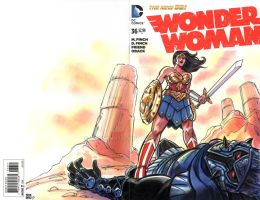 Wonder Woman Sketch Cover by timshinn73