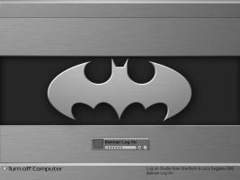 Batman Chrome Log On by Jetsetter