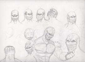 Guyman Original Prototype sketch by rickyscomics
