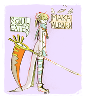 maka albarn and soul eater by onthefritz