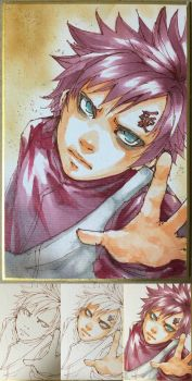 Copic - Gaara by Marimari999