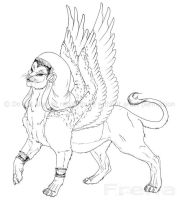 Egyptian Monster: Sphinx by Freha