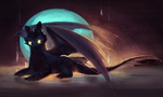 Toothless june 25 daily sketch by Tigermint